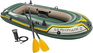 Intex Seahawk 2 Fishing Boat Set With Oars - 68347, Green