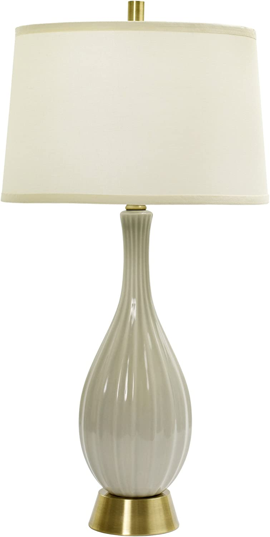 Fangio Lighting W Mr8906egg Cr 32 Ceramic Table Lamp With Ripple Design Eggshell Crackle Amazon Com