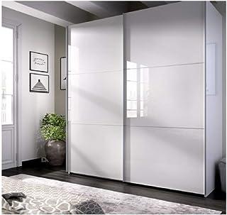 comprar comparacion DECOR NATUR-Armario DE Puertas CORREDERAS Modelo Slide Color Blanco Brillo-Medidas: Ancho: 180 cm Alto: 204 cm Fondo: 65 cm