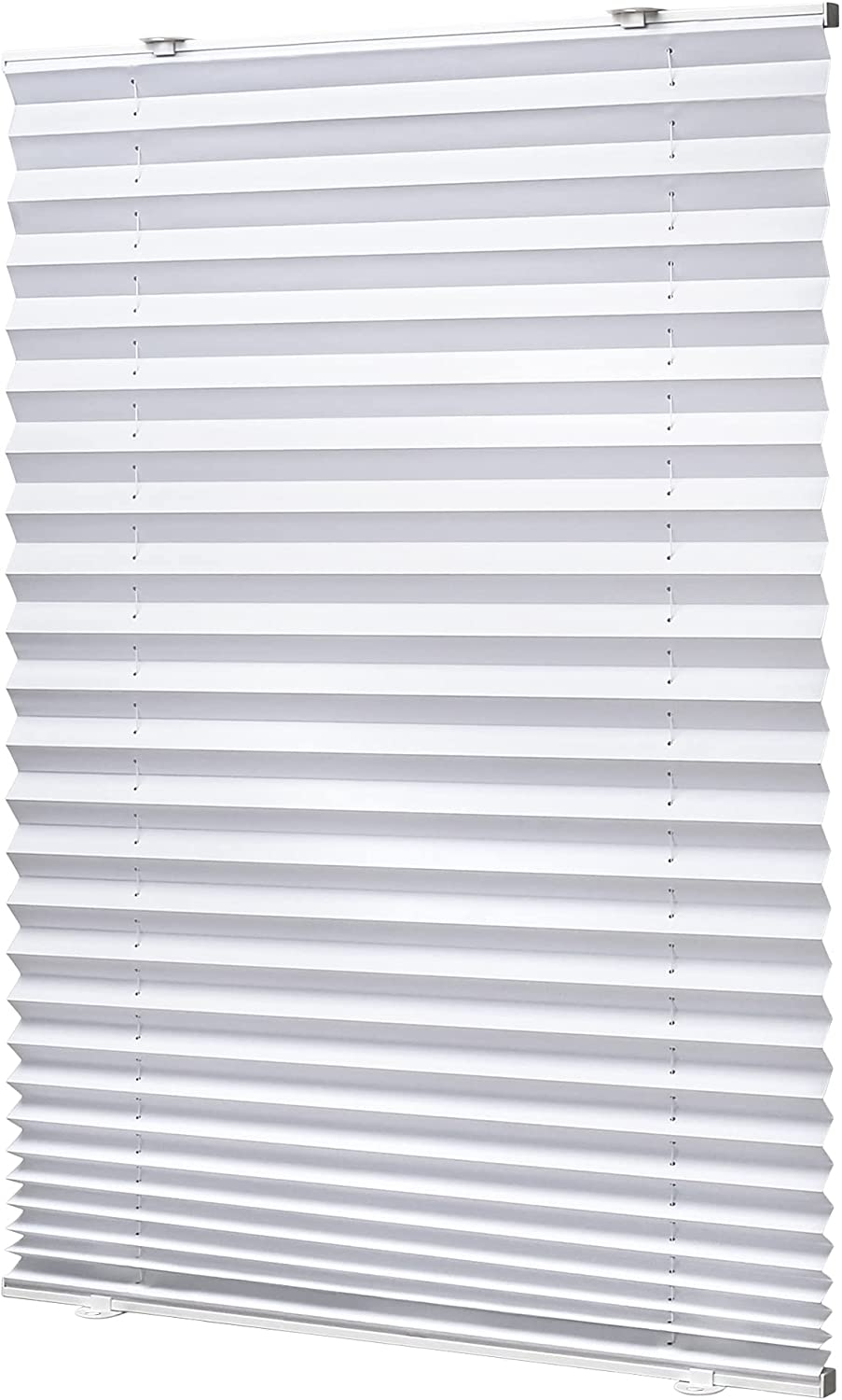 Dedication LazBlinds Tool-Free Cordless Pleated Shades Suction Wh Inventory cleanup selling sale Cups with