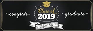 Dream Big, Personalized Graduation Banner, Class of 2019, University Graduation Poster, Graduation Party Banner, Graduation - Size 48x24, 60x24, 72x24 ; Party Banner - Handmade Party Supply