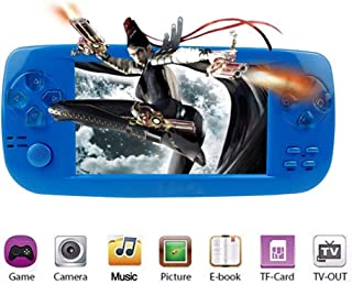 MJKJ Handheld Game Console , Portable Video Game Console 4.3 Inch 3000 Classic Retro Game Console Pap-KIII , Support GBA / GBC / GB / SEGA / NES / SFC / NEOGEO - Blue