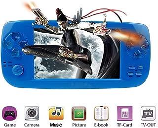 MJKJ Handheld Game Console , Portable Video Game Console 4.3 Inch 3000 Classic Retro Game Console Pap-KIII , Support GBA / GBC / GB / SEGA / NES / SFC / NEOGEO - Blue