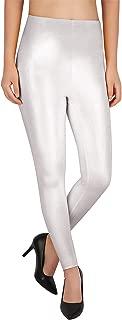 HDE Womens Shiny Glitter Leggings Sparkle Bling Tight Wet Look Metallic Pants