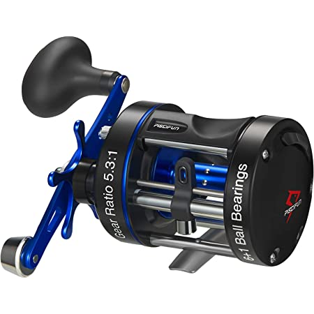 Piscifun Chaos XS Round Reel - Reinforced Metal Body Round Baitcasting Reel, Smooth Powerful Saltwater Inshore Surf Trolling Fishing Reels, Conventional Reels for Catfish, Musky, Bass, Pike