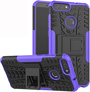 Labanema Heavy Duty Shock Proof Rugged Cover Dual Layer Armor Combo Protective Hard Case Cover for Nokia 2.1 Purple BT00379-5