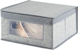 mDesign panier de rangement en tissu, moyen – grand bac de stockage, idéal pour stocker les vêtements et comme organiseur ...