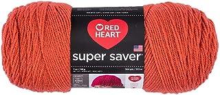 Red Heart Yarn Super Saver Yarn 726 Coral, Light Garnet