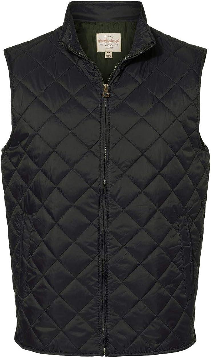 Weatherproof Vintage Diamond Quilted Vest 207359 - Black Size L