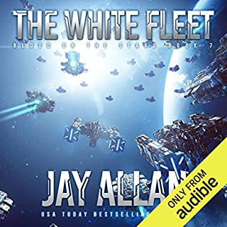 The White Fleet     Blood on the Stars, Book 7              Written by:                                                                                                                                 Jay Allan                               Narrated by:                                                                                                                                 Jeffrey Kafer                      Length: 11 hrs and 39 mins     3 ratings     Overall 3.7