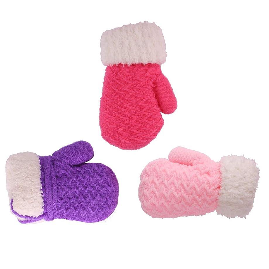 Toddler Baby Boy Girl Warm Winter Mittens Gloves With Fleece Lining Snowflake Design ?-