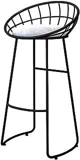 Taburete de bar Taburetes con respaldo de cocina sillas de metal patas de las sillas de comedor for desayuno Barra de oro y el hogar simple moderna de hierro heces Volver Oro, Café Ocio alta nórdica v