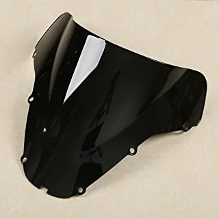 XMT-MOTO Windscreen Windshield Screen Protector fits for HONDA CBR 929RR 900RR 2000 2001,Black