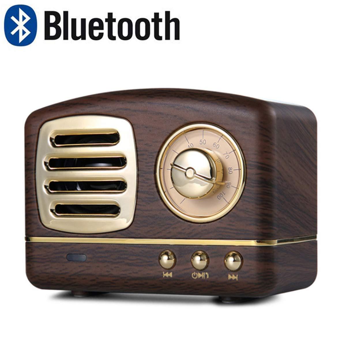 Lychee Vintage Altavoz Bluetooth Inalámbrico Retro Subwoofer Estéreo Subwoofer Portátil Mini Caja de Sonido Soporte TF AUX Reproducción de Música Manos Libres con Micrófono (Madera): Amazon.es: Electrónica