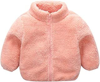 Toddler Baby Boys Girls Winter Fur Fleece Jacket Coat Warm Plush Outwear Outfits Clothes for Kids