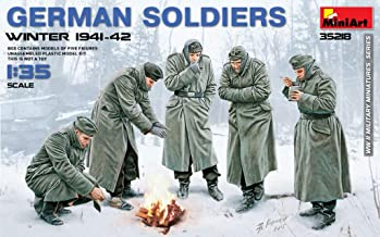 MiniArt 35218 German WWII Soldiers (Winter 1941-42), 1/35 Scale World War II Military Miniatures Series Plastic Figures Model Kit