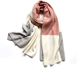 Scarf autumn and winter cashmere plaid contrast color knit scarf violent beauty growth pink scarf shawl female 210 * 70CM
