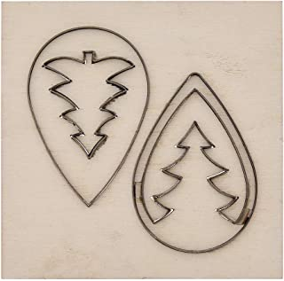 CHZIMADE Scrapbook Embossing Wooden Die Cutting Leather Mold for DIY Art Crafts Fabric Aceessory Earring Jewelry Making and Home Decoration (Christmas Trees 1)