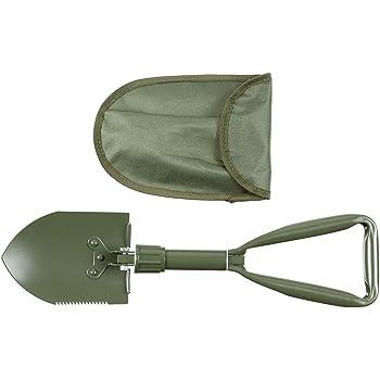 com-four/® Klappspaten mit Tragetasche Urlaub stabile Schaufel klappbarer Feldspaten Spaten aus Stahl f/ür Camping Garten Outdoor und Survival