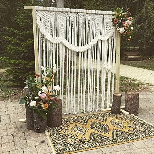 free shipping American Knit Bohemian Macrame Wedding Boho Chic Backdrop Decor Popular brand