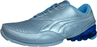 PUMA Cell Akila L Womens Leather Running Trainers/Shoes - Silver