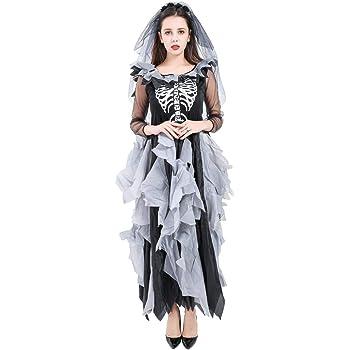 Zombie Cimitero LA SPOSA CADAVERE Ragazze Halloween Costume