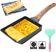 Japanese Omelette Pan - Nonstick Tamagoyaki Pan Square Japanese Egg Pan,with Silicone Spatula & Brush,Safe and PFOA-Free