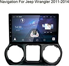 Foof Car GPS Navigation Vehicle GPS Navigation Car System for Jeep Wrangler 2011-2014 Navigator 10 Inch Touch Screen Multimedia Support Hands-Free Calling