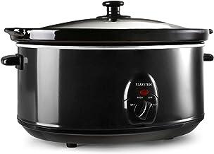 Klarstein Bristol 65 - Slow Cooker, Cocotte electrique, mijoteuse (6,5 L, 300W, 2 températures) - noir
