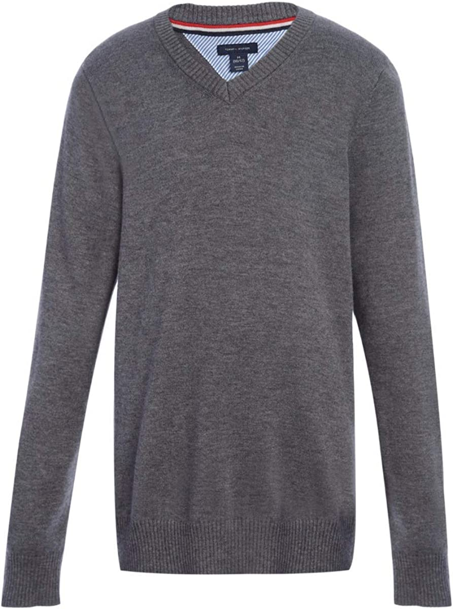sold out Tommy Hilfiger Long Sleeve Boys V-Neck Kids Sweater Unif Max 58% OFF School
