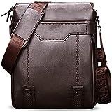 Herren Schultertasche Tasche Aus Leder,Für 9.7 Zoll Ipad Moderne Leder Schultertasche Für Männer Aktentasche Laptoptasche Bürotasche Businesstasche,A