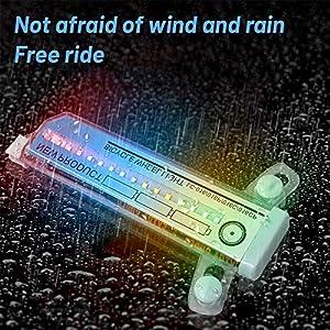 ZoneYan Luces de Rueda de Bicicleta, Luces para Radios de Bicicleta, 32 Led para Bicicleta Ruedas, Luces Led para Bicicletas Ruedas Impermeable, 30 Variaciones de Patrones(1 Pieza)