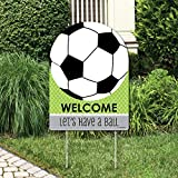 Big Dot of Happiness Goaaal - Soccer - Party Decorations - Birthday Party or Baby Shower Welcome Yard Sign