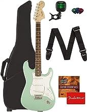 Fender Squier Affinity Stratocaster - Surf Green Bundle with Gig Bag, Tuner, Strap, Picks, and Austin Bazaar Instructional...