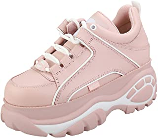 Buffalo Woman's 1339 Pink Leather Sneakers