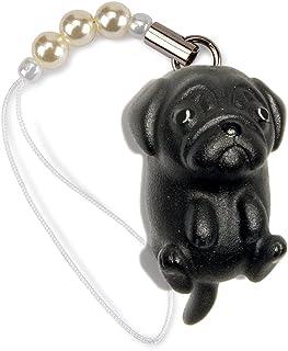ペットラバーズ 犬種 Dog 92 Pug パグ ブラック ビーズ ストラップ DN-1003