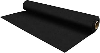 IncStores 8mm Strong Rubber Gym Flooring Rolls Non-Slip Equipment & Protective Mats (25 and 50 Foot Options Include Rubber Flooring Inc Rubber Floor Cleaner)