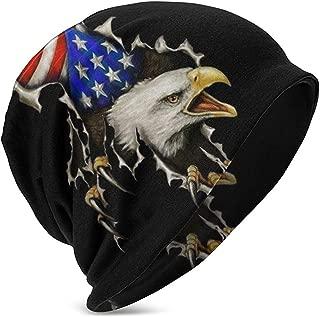 Gorros Unisex Gorros Eagle Calvo Separar De EE. UU. Bandera ...