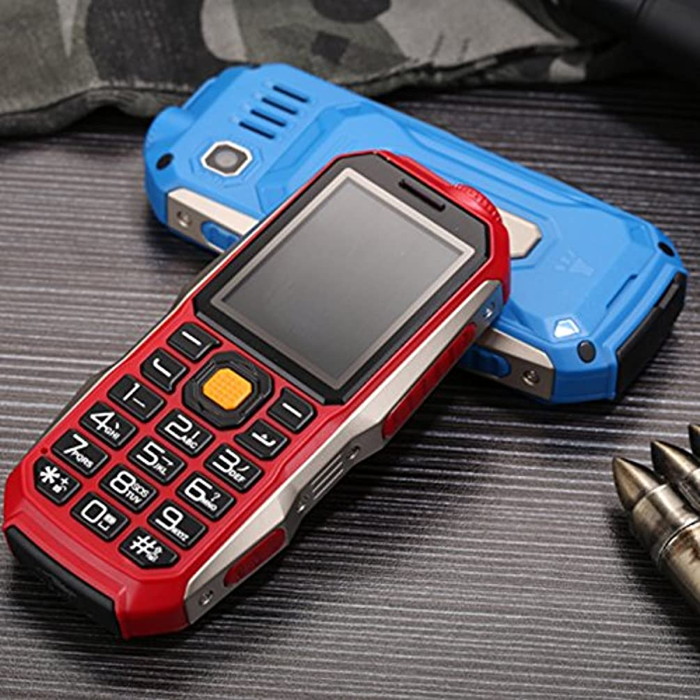 GGGarden GOFLY S7000 2.0 Inch 3800mAh OTG Flashlight FM MP3 Power Bank Dual SIM Outdooors Mini Feature Phone - Red