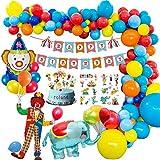MMTX Karneval Zirkus Geburtstag Dekoration Junge, Geburtstagsdeko Party Mädchen mit Alles Gute zum...