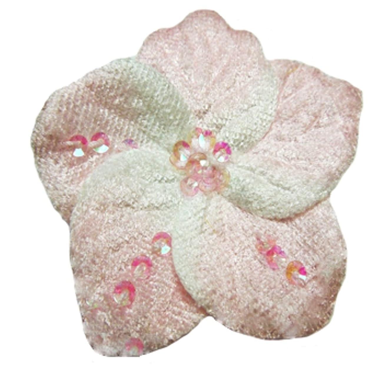 Cuteque International 6-Piece Pack Soft Velvet Cherry Blossom Sparkling Sequins, Light Pink