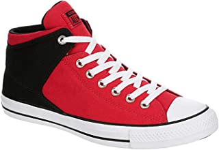 Converse Mens CTAS High Street Sneaker, Red/Black/White, 11 US