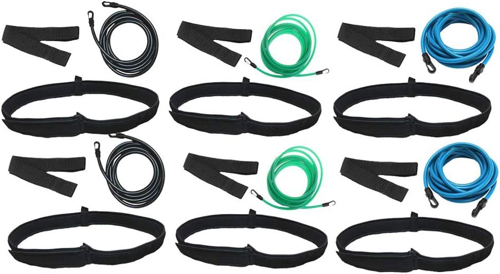 LoveinDIY 6 Sets List security price Swim Bungee Training Resistance Tethe Band Belt