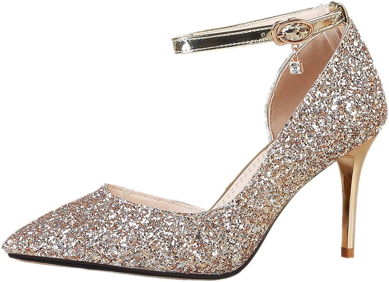 ea620adbc4 TAOFFEN Women Ankle Strap shoes Thin Heel Fashion Court ztvsmi1112 ...