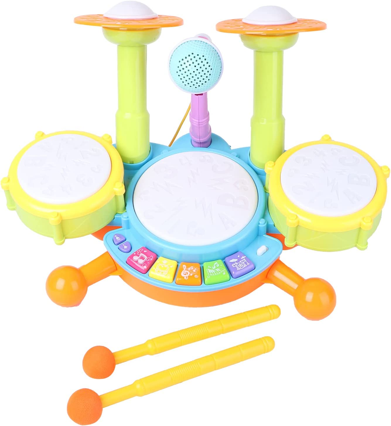 balacoo Kids Max 77% OFF Drum Set Electric Musical D with New Free Shipping Instruments Toys 2