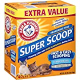 Arm & Hammer Super Scoop Clumping Cat Litter, Fragrance Free 40lb