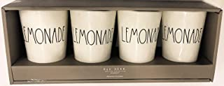 Rae Dunn by Magenta Melamine LEMONADE Tumblers | Set of 4
