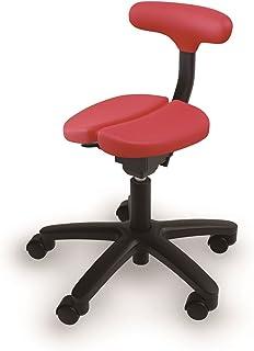 アーユル・チェアー キャスタータイプ オクトパス レッド 【骨盤を立て坐骨で座る 腰と姿勢のサポート椅子 デスクワーク 集中できる学習環境 特許取得】