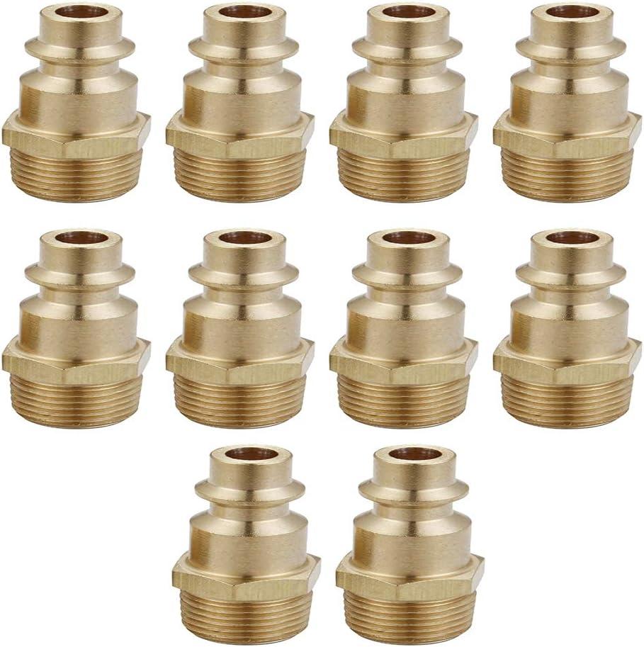 Milageto 10pcs Brass Quick Coupler Air Max 50% OFF Fittin Connector Atlanta Mall Set Hose
