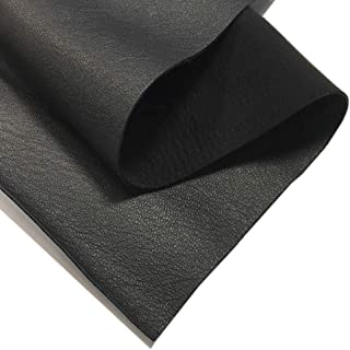 Black Genuine Leather for Crafts: 1 Durable Sheepskin Leather Sheet for Bookbinding 12x12In/ 30x30cm